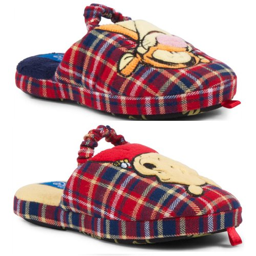 New Kids Boys Girls Official Disney Winnie The Pooh Tigger Tartan Slippers