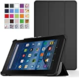 MoKo Fire 7 2015 Case - Ultra Lightweight Slim-shell Stand Cover for Amazon Fire Tablet (7 inch Display - 5th Generation, 2015 Release Only), BLACK