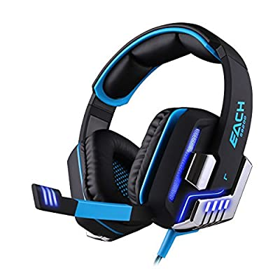 Computer Gaming Headphone G8200[G2000 Update] Game Headphone 7.1 Surround USB Vibration Gaming Headset Headband Earphone With Microphone LED Light For PC Gamer