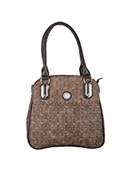 Trendy Collectionz Synthetic And Cotton Double Handle Brown Women Handbags - B00WWQ048I