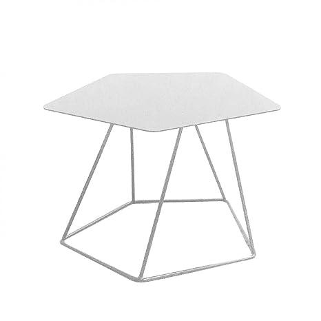 BONALDO tavolino Tectonic bianco lucido h35 piano in lamiera piena acciaio TC96