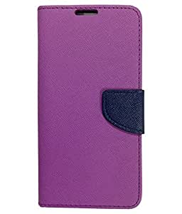 CELZO Wallet Flip Cover Case for Xiaomi Redmi 3x - Purple