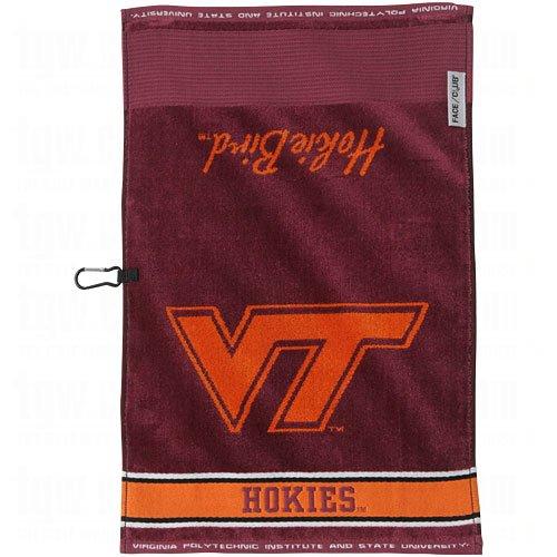 Team Effort Collegiate Logo Jacquard Golf Towels Virginia Te