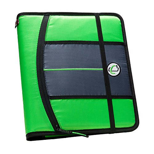 case-it-1-inch-3-ring-binder-5-tab-6-pocket-neon-green-slim-621-fn-neogrn