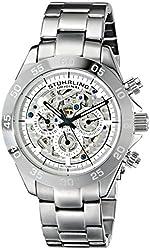 Stuhrling Original Men's 487.01 Symphony Elite Automatic Skeleton Multifunction Stainless Steel Watch