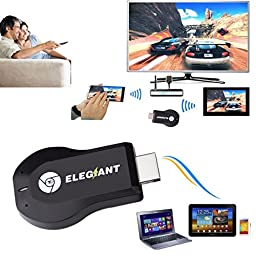 Miracast Dongle,ELEGIANT Full HD 1080P WiFi Wireless Display Receiver Dongle HDMI TV Mini PCOTA Miracast DLNA Airplay Airmirroring for HDTV Smart Phones Notebook Tablet PC