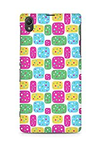 Amez designer printed 3d premium high quality back case cover for Sony Xperia Z1 C6902 (Figures bright)