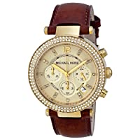 Michael Kors Chronograph Gold Dial Crystal set Ladies Watch MK2249 from Michael Kors