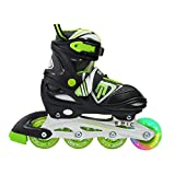 Epic Skates Rage Adjustable Inline Skates (Color: Black, Tamaño: 1-4 M US Big Kid)