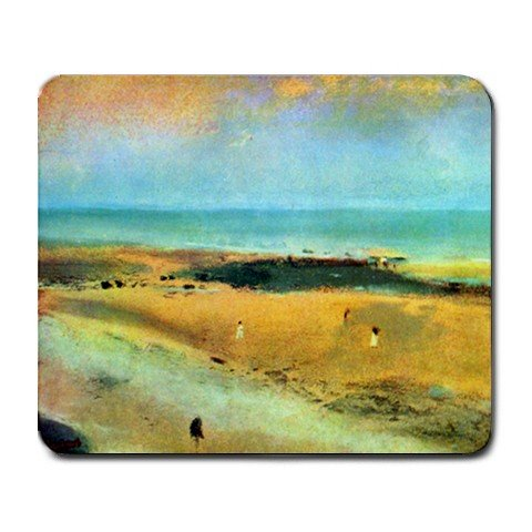 Beach at Low Tide By Edgar Degas Mouse Pad