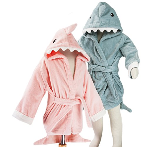 HoodieKinz Hooded Towel Bath Robe In Two Sizes for Newborn and Kids 100% Cotton (Pink-MED) (Adult Size Hooded Towel compare prices)