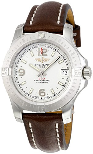 Breitling Colt 36 Silver Dial Ladies Watch A7438911-G803BRLT