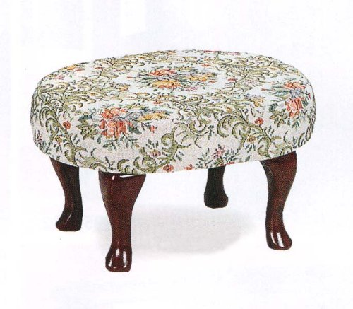 Upholstered Cherry Wood Foot Stool Wooden Footstool Lavonemu