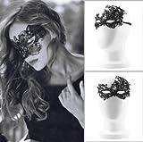 マスカレード パーティーの仮装衣装の黒のセクシーな女性のレースのマスク素材アイマスク