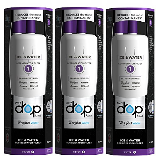 EveryDrop by Whirlpool Refrigerator Water Filter 1 (Pack of 3) (Whirlpool Advanced Water Filter compare prices)