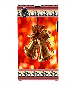 ColourCraft Christmas Bells Back Case Cover for SONY XPERIA Z1 - C6903 / C6906