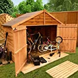 BillyOh 3 x 7 Extra Wide Overlap Apex Bike Store Mini Shed
