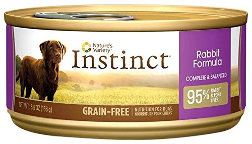 Nature's Variety Instinct Canned Dog Food - Rabbit - 5.5 oz - 12 ct (Instinct Canned Chicken Dog Food compare prices)