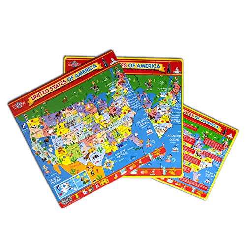 T.S. Shure Map of the USA Magnetic Puzzle - 1