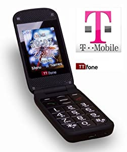 TTfone Venus TT700 - T-Mobile Pay As You Go - Big Button Flip Mobile Phone - Easy to Use Simple - Camera - Full Colour Screen - FM Radio - SOS Button - Prepay - PAYG