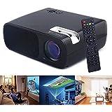 Flylinktech LED Vidéoprojecteur 2600 Lumens Contraste 2000: 1 Résolution 800x480 Interface D'entrée 2*HDMI/ 2*USB/ VGA/ AV/ TV/ YPBPR Pour Cinéma Maison (Noir)