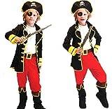 海賊コスチュームハロウィンクリスマスパーティ宴会イベント衣装仮装変装コスプレキャプテンパイレーツキッズ子供望遠鏡おまけつき
