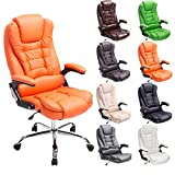 CLP Design Office Desk Chair THOR, height adjustable office chair, max. capacity 120 kg, high quality upholstery, choose from up to 8 colours orange, width 78cm