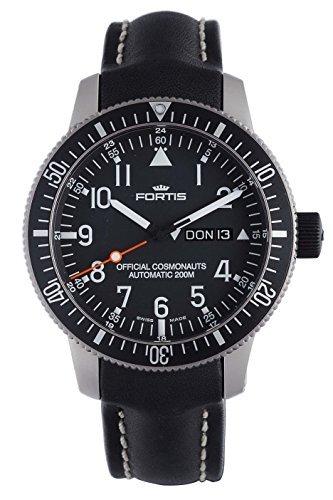 Fortis 647.27.11L.01B-42Official Cosmonauts Día/fecha Titanio Mens Reloj Automático