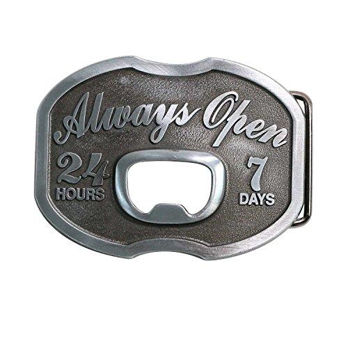 Landisun Western Cowboy Belt Buckles for Men Women Bottle Opener (Belt With Bottle Opener Buckle compare prices)