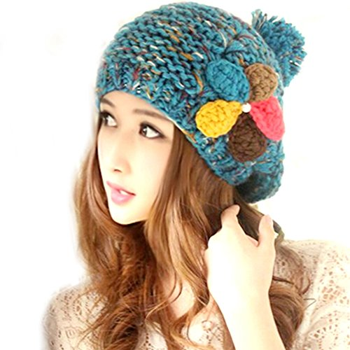 Demarkt Lady Girls Fresh Colour Flower Beanie