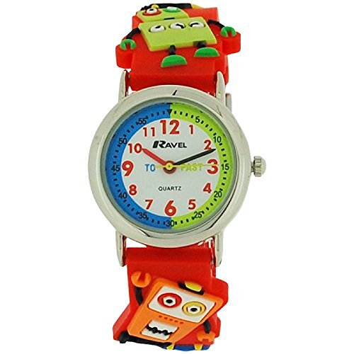 Ravel Funtime Boys 3D Robots Design Time Teacher Strap Watch