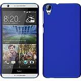 Custodia Rigida per HTC Desire 820 - gommata blu - Cover PhoneNatic + pellicola protettiva