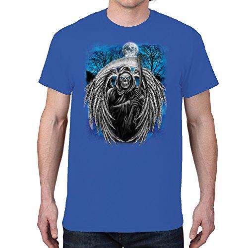 Men'S Winged Grim Reaper Royal Blue T-Shirt (X Large)