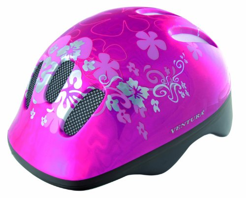 Ventura Flower Children's Cycle Helmet (Pink, Youth 50-57cm)