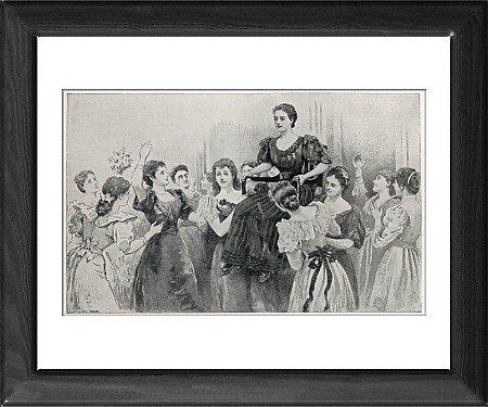 Framed Print of Lady Wrangler June 1894 from