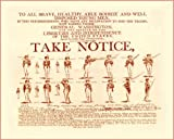 AMERICAN CIVIL WAR Enlist under GEORGE WASHINGTON public notice A3 250gsm QUALITY GLOSS ART CARD Reproduction Print