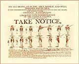 AMERICAN CIVIL WAR Enlist under GEORGE WASHINGTON public notice A3 250gsm QUALITY GLOSS ART CARD Reproduction Print