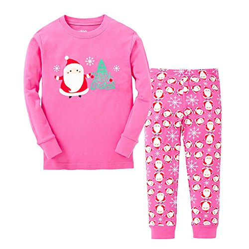 VICVIK Baby and Little Girl Christmas Pajama Sets 2 Piece 100% Cotton Size 2-7T