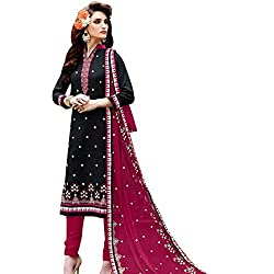 pakiza design new arrival black pink cotton party wear salwar suit dress material for women