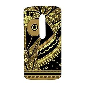RANGSTER Madhubani Peacock-Rangful-Matte Finish Mobile Case For Motorola Moto X-Play (XT1562)-Black