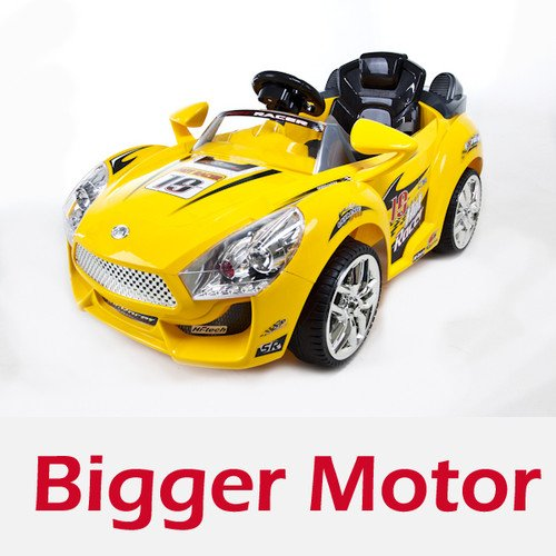 Hot Racer Wheels Kids Battery Power Ride on Car Mp3 & Rc Remote,upgraded, Bigger, Rechargeable 6v 10ah Battery and Powerful 6v Motor