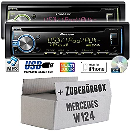 Mercedes-benz w124 classe e pioneer dEH-x3800UI-cD/mP3/uSB avec kit de montage