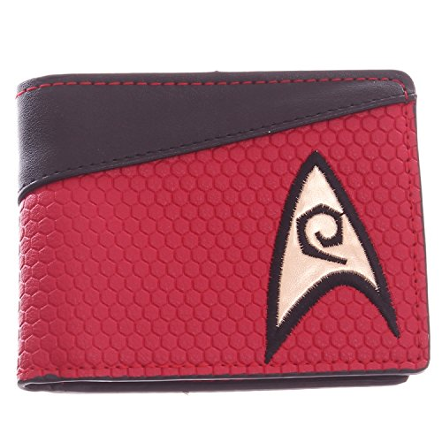 Star Trek Red Bi-Fold Wallet with Engineering & Security Logo