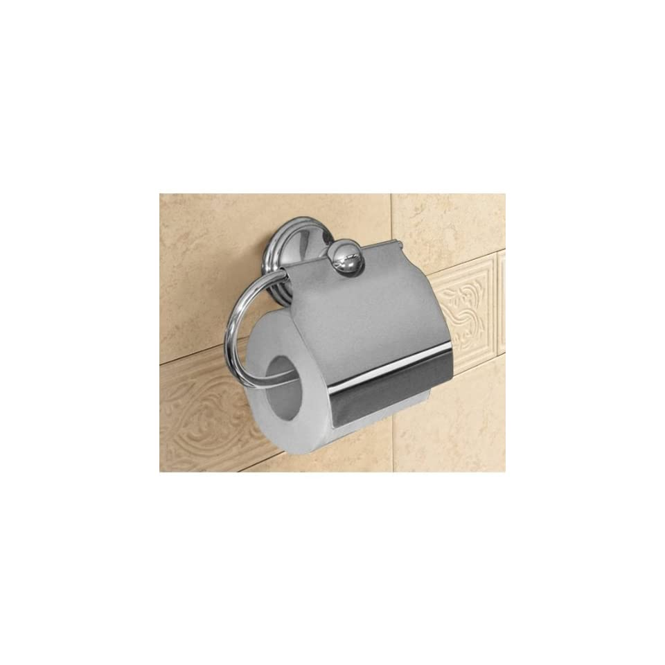 Gedy 7525 13 Polished Chrome Toilet Roll Holder With Cover 7525 13