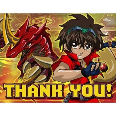 Bakugan Thank You Notes, 8ct