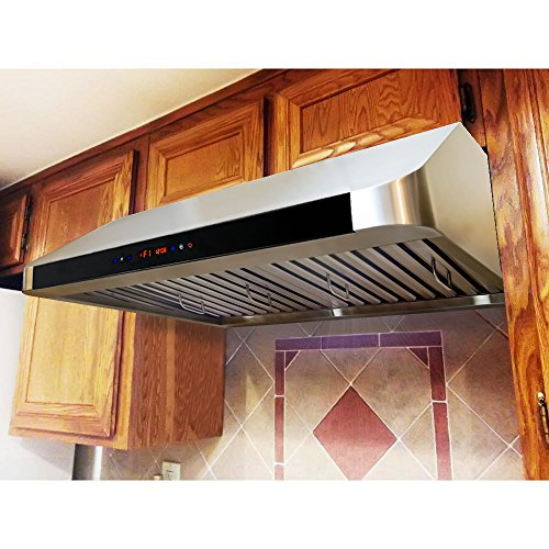 "Firebird New 36"" European Style Under Cabinet Stainless Steel Range Hood Vent W/Touch Button Control And Remote Fb-90A1081"