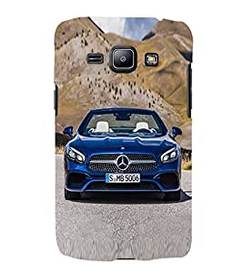 Blue Luxury Car 3D Hard Polycarbonate Designer Back Case Cover for Samsung Galaxy J2 (2016)