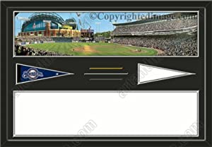 Milwaukee Brewers Miller Park Stadium & Your Choice Of Stadium Panoramic... by Art and More, Davenport, IA