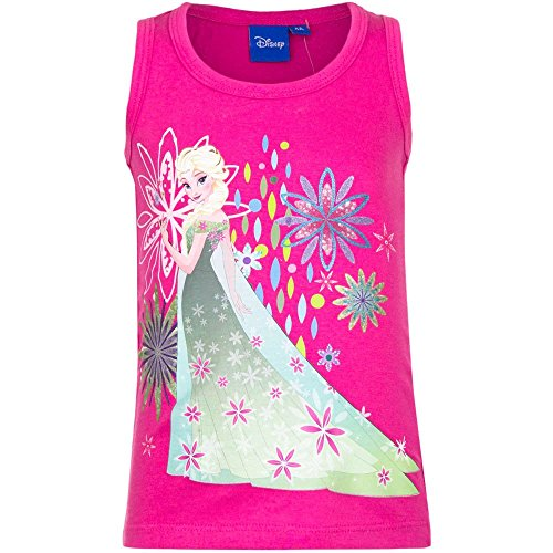 Frozen-Camiseta-de-tirantes-Top-sin-Mangas-para-nia-EP1053-Fucsia-8-anni-128-cm