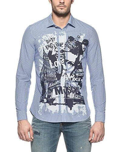 Love Moschino Hemd blau/weiß